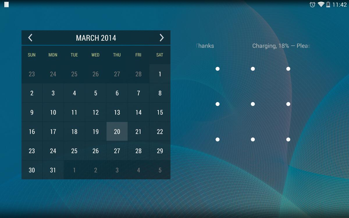 Calendar Widget KEY - screenshot