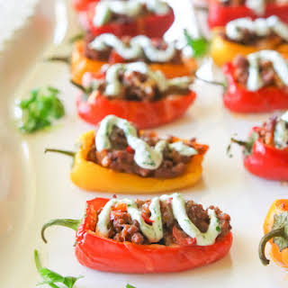 Mini Taco Stuffed Peppers.