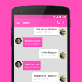 EvolveSMS Theme Pink Material