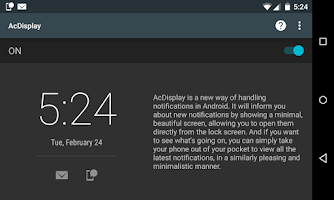 Screenshot of AcDisplay
