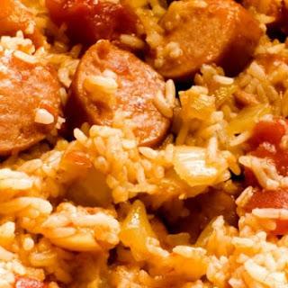 Slow Cooker Sausage Jambalaya.