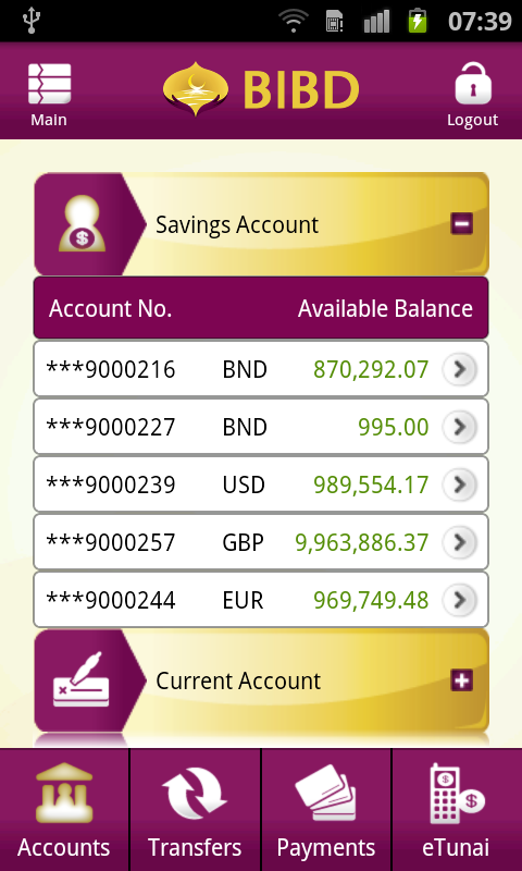 BIBD Mobile - screenshot