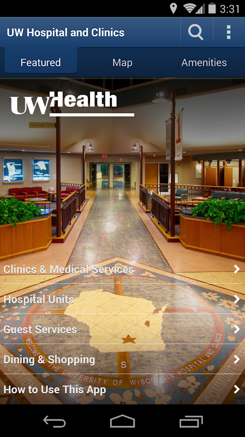UW Health Navigator- screenshot