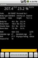 Screenshot of Bluetooth Scale Logger