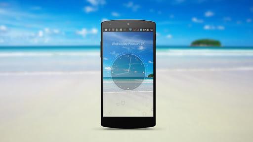 Beach HD Analog Clock LWP