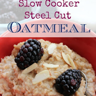 Slow Cooker Steel Cut Oatmeal