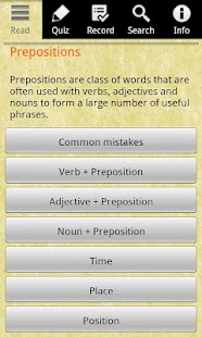 English Grammar -Preposition- screenshot thumbnail