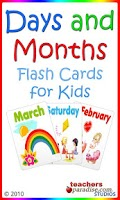 Screenshot of Days and Months Flashcards
