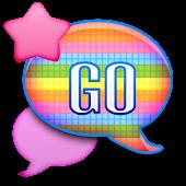 GO SMS - Pastel Rainbow Sky