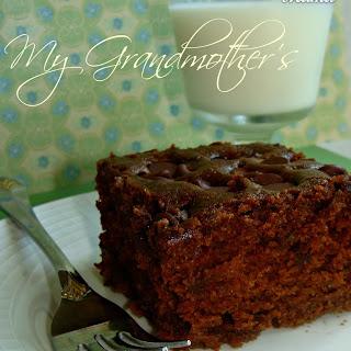 My Gram, and her Chocolate Zucchini Cake