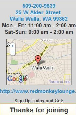 Red Monkey Lounge Walla Walla - screenshot