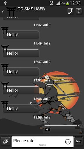 GO SMS 프로 닌자
