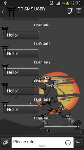 GO SMS Proの忍者