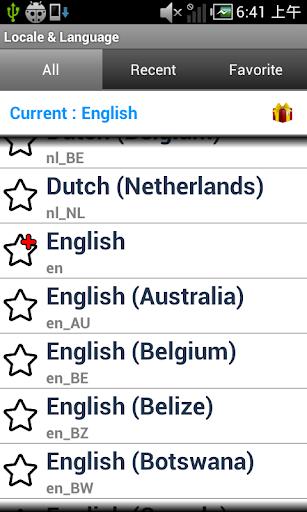 Set Locale Language