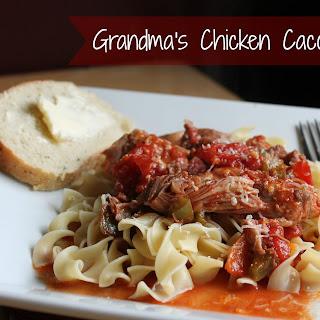 Grandma's Chicken Cacciatore