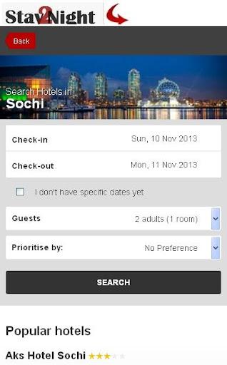Sochi Hotel booking
