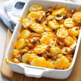 Cheesy Sausage Potatoes.
