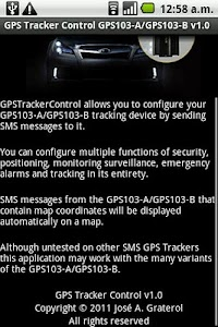 GPSTracker Control GPS103-A/B screenshot 4