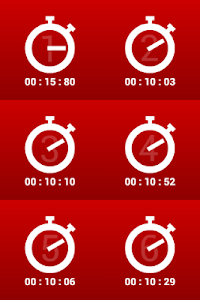 Multiple stopwatches FREE screenshot 2