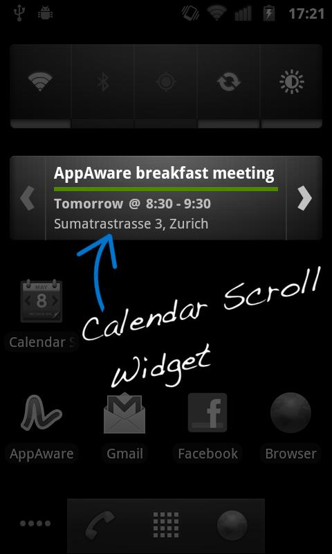 Calendar Widget - Pro- screenshot