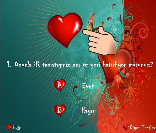 Aşk Testi - Sevgi Testi