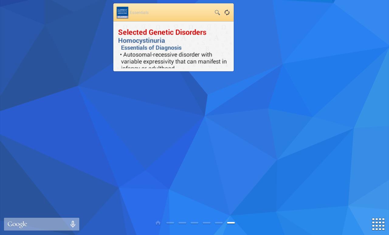 Current Essentials of Medicine - screenshot