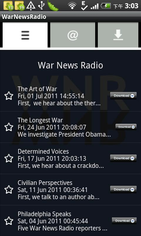WarNewsRadio- screenshot