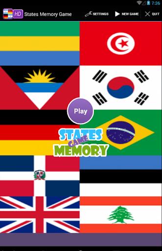 States Memory Game