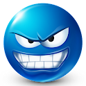 Texto Smileys ™ Azul icon