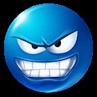 Texte Smileys ™ Bleu icon