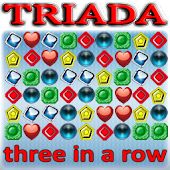 Triada - three in a row