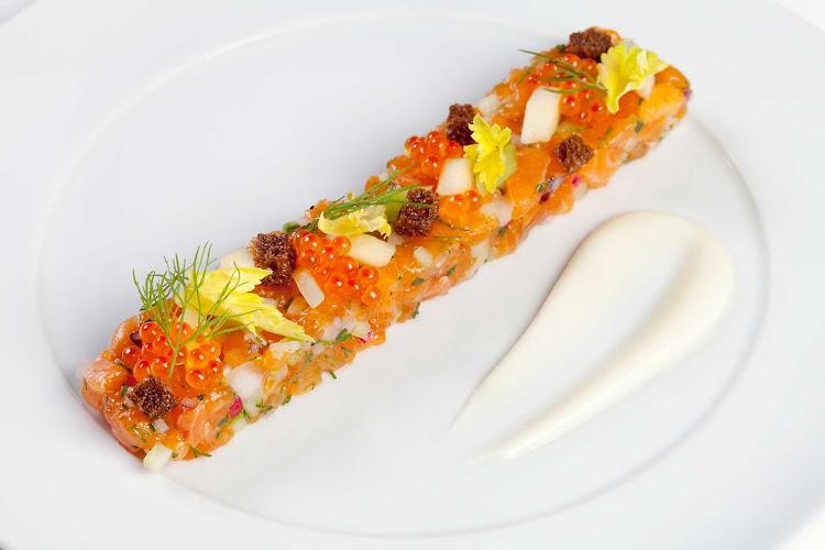 A dish prepared in Celebrity Cruises's Main Restaurant.