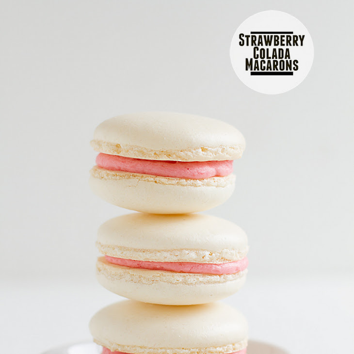 Strawberry Colada Macarons Recipe