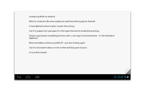 Write for Android - screenshot thumbnail