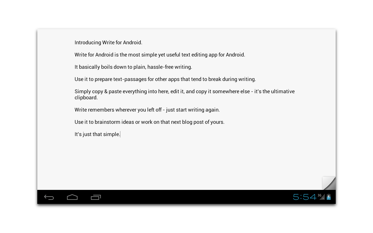 Write for Android - screenshot