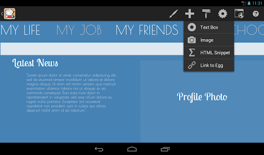 Android Web Maker - HTML Egg - screenshot thumbnail