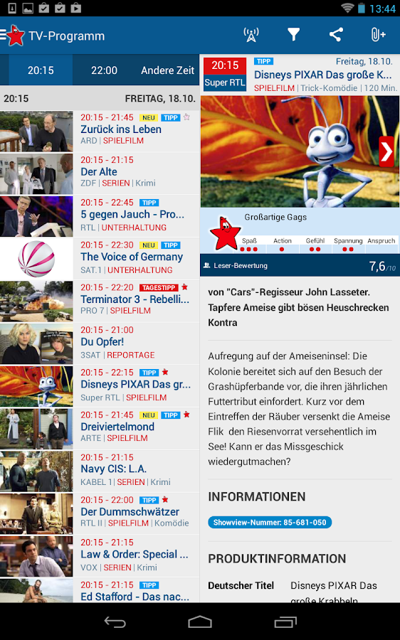 tv movie tv programm android apps on google play. Black Bedroom Furniture Sets. Home Design Ideas