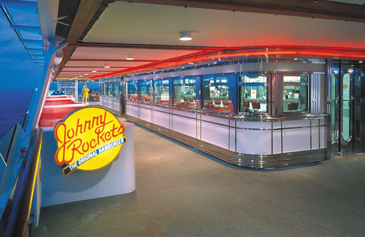 Voyager-of-the-Seas-Johnny-Rockets - You can dine outside at Johnny Rockets, the '50s-style diner on Voyager of the Seas.