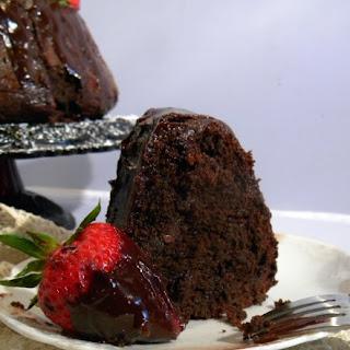 Triple Chocolate Merlot Bundt Cake with Cardamom.
