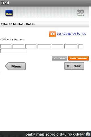 Itaú - screenshot