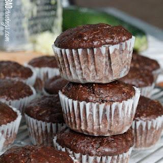 Skinny Double Chocolate Zucchini Pecan Muffins