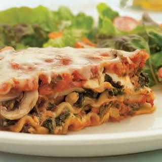 Sausage, Mushroom & Spinach Lasagna.