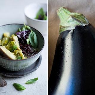 Aubergine & Lemongrass Curry.