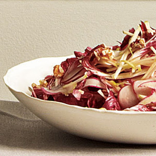 Granny Smith, Radish, and Radicchio Salad with Orange-Walnut Vinaigrette