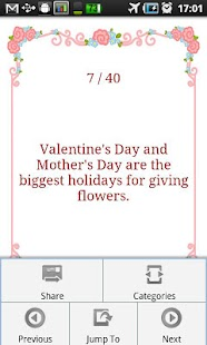 Valentine's Day Fun Facts Screenshot