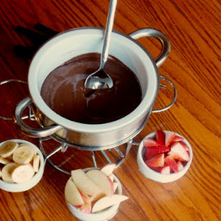 Clean Eating Chocolate Fondue.