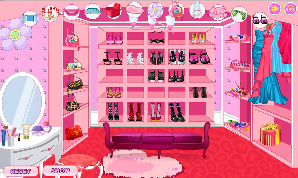 Decorate your walk-in closet Android App Screenshot