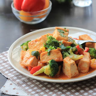 Sweet and Sour Tofu.