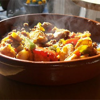 Sweet Potatoes with Sausage and Peppers