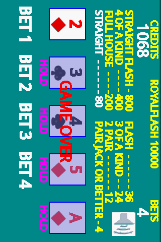 A8 Video Poker (LITE) - screenshot